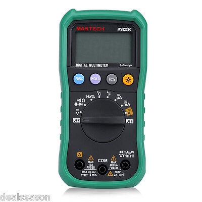Mastech Ms8239c Digital Multimeter Ac Dc Voltage Current Capacitance Frequency
