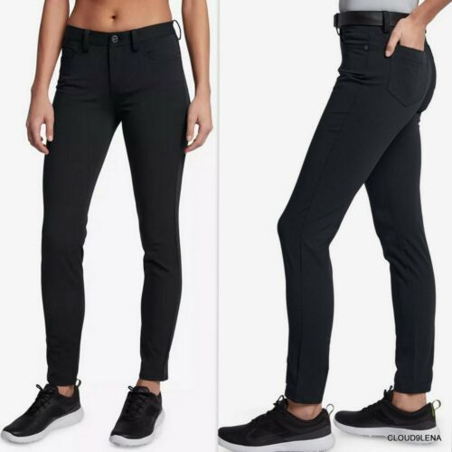 NWT NIKE Slim Fit Black Jeans-style H2O repel Golf Pants AT3327-010 Size 2 $100
