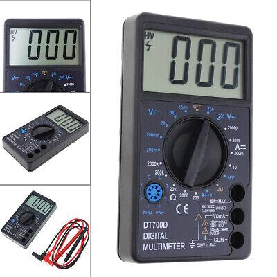 Dt700d Lcd Digital Multimeter Dcac Voltage Diode Freguency Multitester