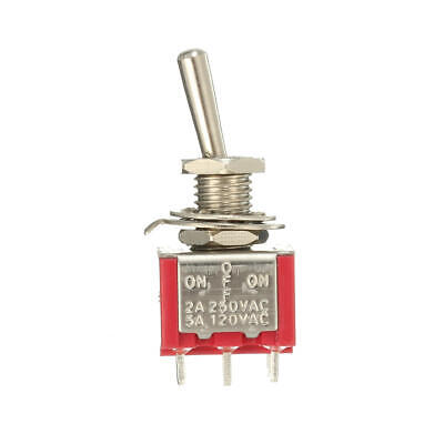 Red Toggle Switch Dpdt On-off-on 6 Pins 3 Position 5a 120vac 2a 250vac