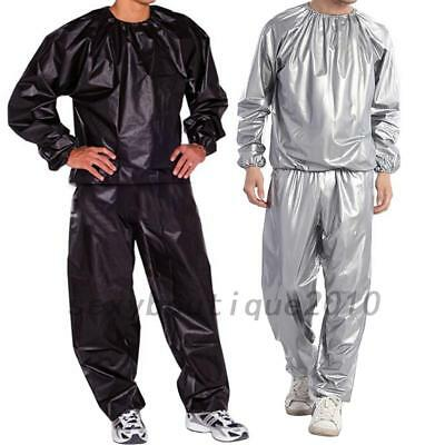Men Women Sweat Sauna Suit Fitness Loss Weight Exercise Training Cloth L-5XL
