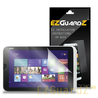 2X EZguardz Clear Screen Protector Shield Skin 2X For Acer Iconia W3-810