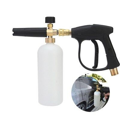 UK Pressure Washer Snow Foam Lance Cannon with 1/4'' Quick Adapter Jet Wash Gun