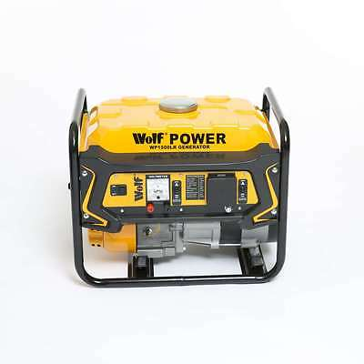 Wolf WP1500LR 3.5HP 230v 1100w 4 Stroke Petrol Portable Generator