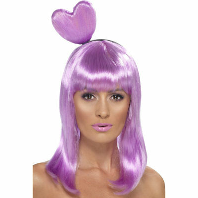 Candy Queen Wig Katy Perry Heart California Gurls Girls Video Pop Womens - Purple Katy Perry Wig