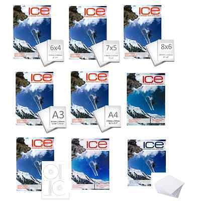 ICE PROFESSIONAL INKJET PHOTO PAPER FULL RANGE GLOSS MATTE SATIN A4/A3/6X4/7X5