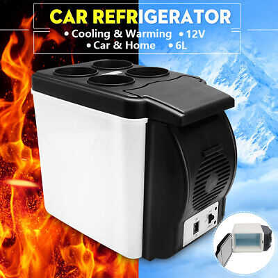 12V Car Small Refrigerator Mini Fridge Cooler/Warmer Mini Compact 6L Fridge