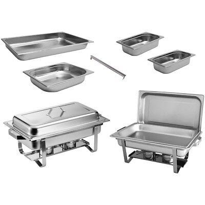 2x Chafing Dish Starter Set Speisewärmer Warmhaltebehälter Rechaud - ZORRO Chafing Dish Set
