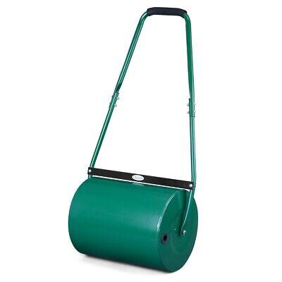 Garden Lawn Roller 30L Heavy-Duty Water Sand Filled Grass Aerator Barrel Shape
