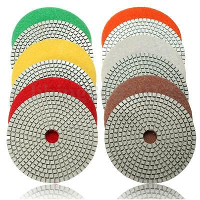 5 Wet Diamond Polishing Pads For Granite Stone Concrete Marble Multiple Grits
