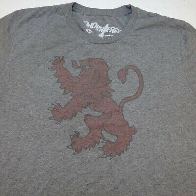 WORN FREE Griffin Vintage Style TEE T SHIRT Sz Mens L Heather Gray Tri Blend Fashion Tri Blend T-shirt