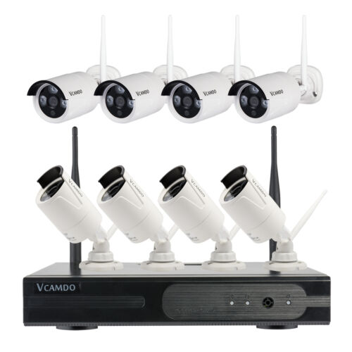 outdoor cctv wireless security camera system kit home surveillance hard drive ebay. Black Bedroom Furniture Sets. Home Design Ideas