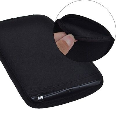Black Pocket Neoprene Shockproof Case Sleeve Pouch Cover For Smart Cell Phone US ()