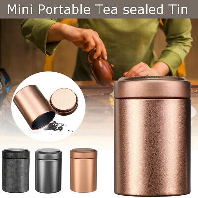 Mini Round Pocket Tea Tin Metal Canisters Container Sugar Coffee Storage Box  Round Mini Tin