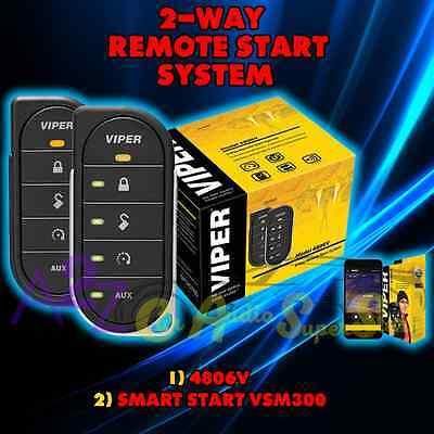 VIPER 4806V 2 WAY CAR ALARM AND REMOTE START + VSM300 SMART START (Viper 300 Alarm)