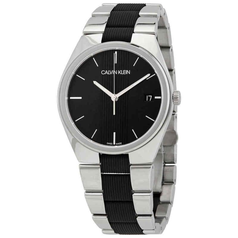 Calvin Klein Contra Quartz Black Dial Men Watch K9E211B1