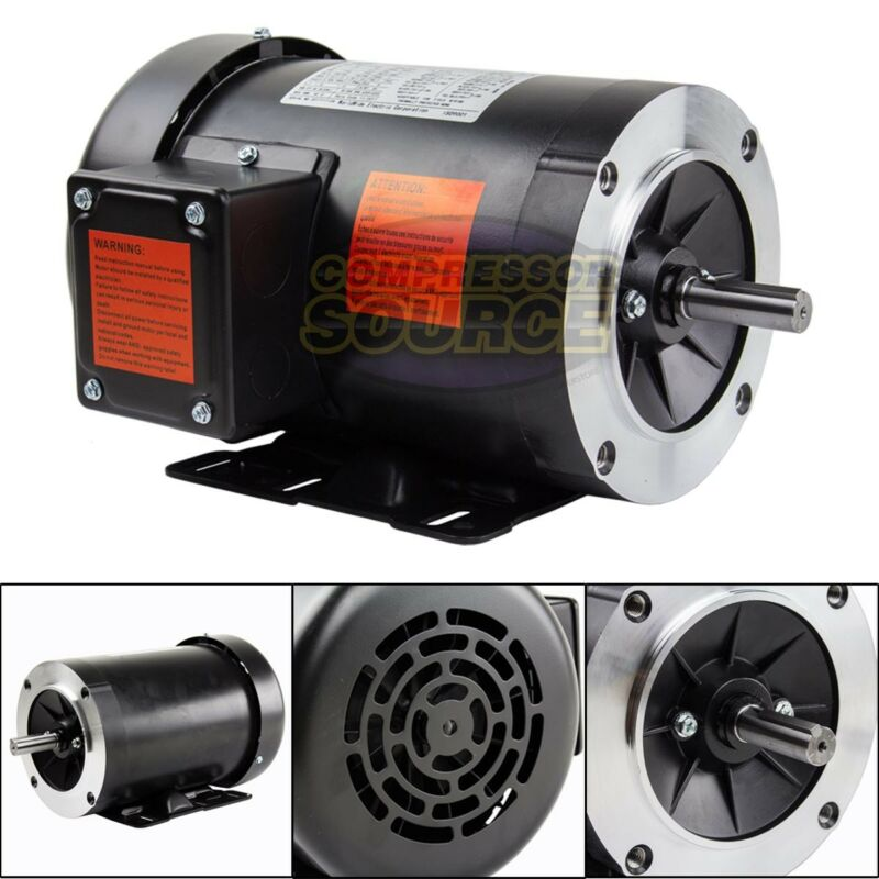 1 HP Electric Motor 3 Phase 56C Frame 1800 RPM TEFC 208 230 / 460 Volt New