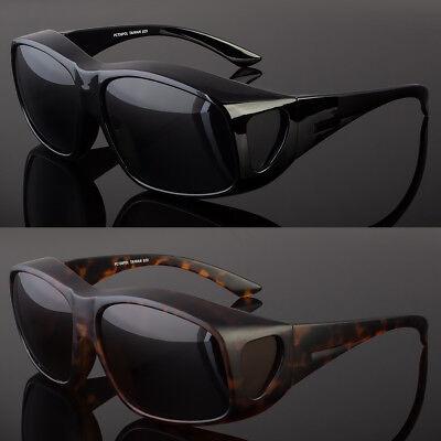 Polarized Large Sunglasses Cover Put Wear fit over Prescription Glasses Driving