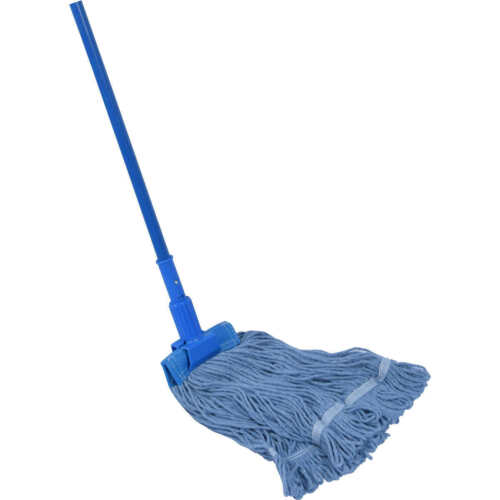 2 Pack Premier Commercial Loop End Wet Mop Heads Blue 22 oz 4-ply antimicrobial