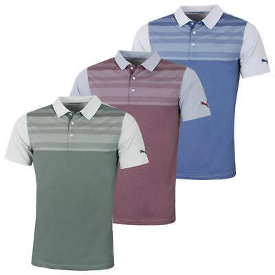 Puma Golf Mens Crossings Crest DryCELL Fusion Yarn Polo Shirt 47% OFF RRP