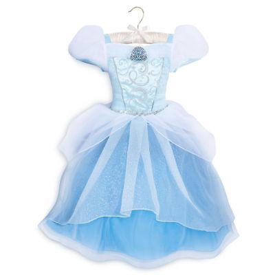 NWT Disney store Cinderella Costume Dress Princess SZ 5/6,7/8 Girls