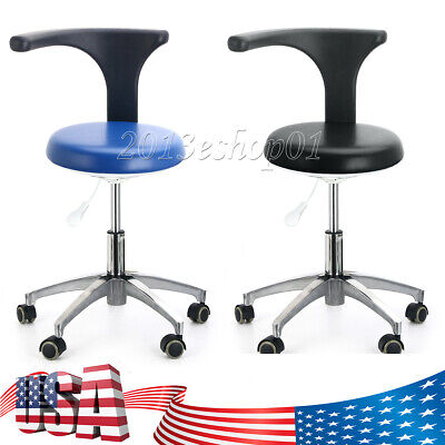 Dental Adjustable Stool Dentist Doctor Chair Rolling Stools Pu Leather