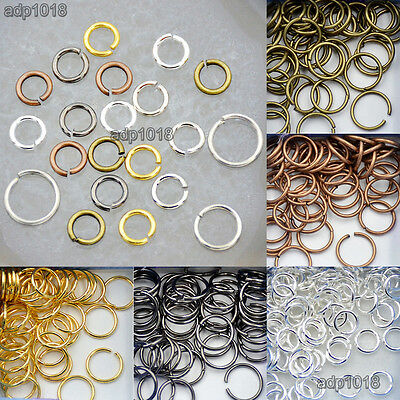 - Silver Gold Plated Single Loop & Double Loop Jump Rings Connectors Findings