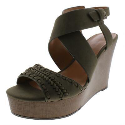 Indigo Rd. Womens Kash Green Wedge Sandals Shoes 8 Medium (B,M) BHFO 8154