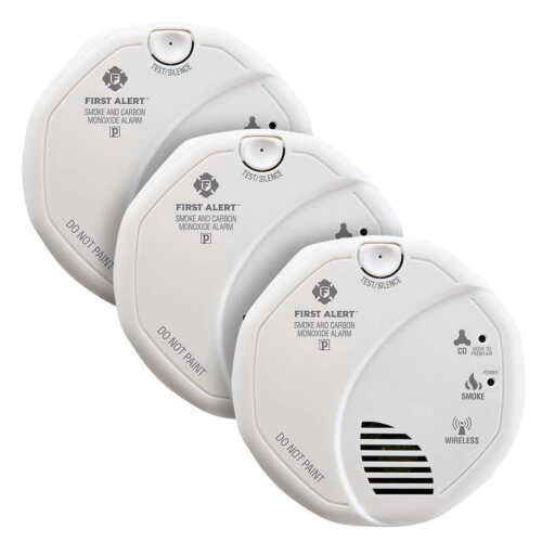 First Alert Z-Wave Smoke and Carbon Monoxide Alarm, 3-pack ZCOMBO