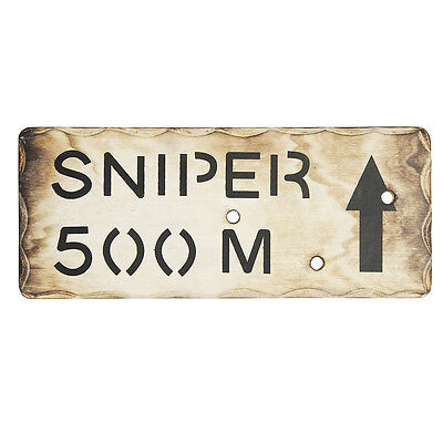 Niños Ejército Francotirador 500M Madera Letrero De Pared - Dormitorio Den Hacer