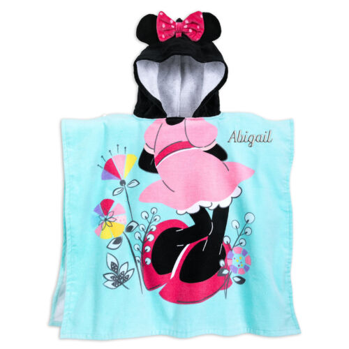 NWT Disney Store Minnie Mouse Hooded Towel Beach poncho Bath Swim Pool no name
