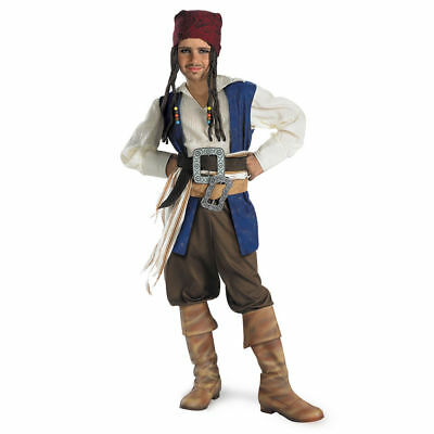 Disguise Pirates Of The Caribbean Captain Jack Sparrow Classic Boys Costume (Captain Jack Sparrow Costume Boys)