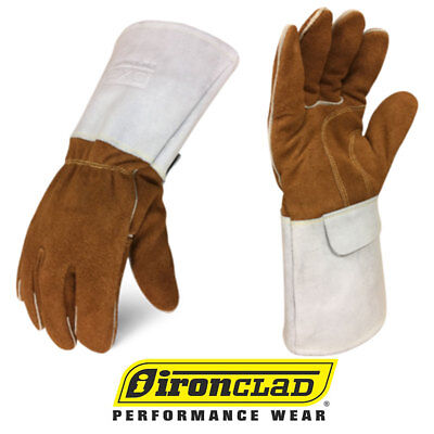 Ironclad Split Leather Welding Gloves Exo2 Mig Welder Gloves - Select Size