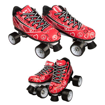Pacer Heart Throb Speed Style Roller Skates For Women Girls Quad Derby Wheels (Heart Skate)