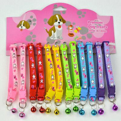 Halsband Katzen Katzenhalsband Haustier Kitten Kitty Cat mit Glöckchen 6 Farben