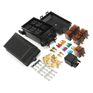 auto fuse box 6 relay socket holder block 5 road insurance kit for car  trunk atv