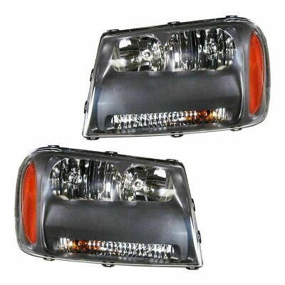 FIT FOR 2006 2007 2008 2009 CHEVROLET TRAILBLZER LT HEADLIGHT RIGHT & LEFT