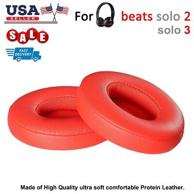 SALE! Replacement RED EAR PADS Beats By Dre Solo3 Solo3 Headphones Cushion US - Dres Sale