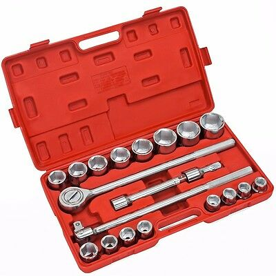 "21 Pc 3/4"" Drive Socket Wrench Set Metric MM Tools Truck Repair HD Sockets Auto"