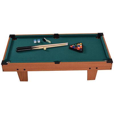 "36"" Mini Table Top Pool Table Game Billiard Set Cues Balls Gift Indoor Sports"
