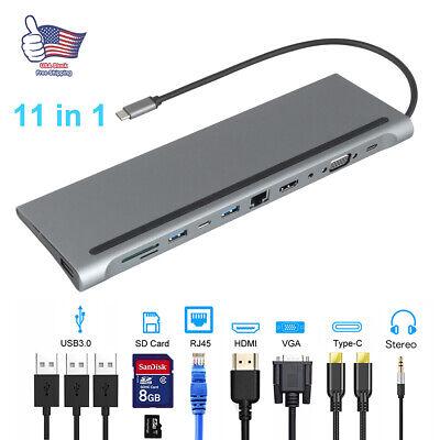 11 in 1 Type C Hub Adapter docking station laptop HDMI VGA...