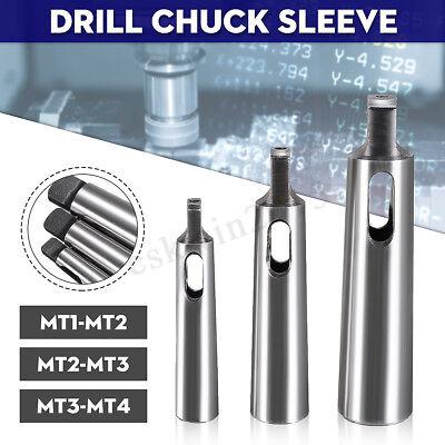 3x Set Mt1-mt2 Mt-2-mt3 Mt3-mt4 Morse Taper Adapter Reducing Drill Chuck Sleeve