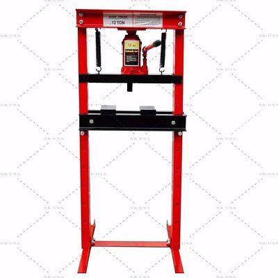 Hydraulic Shop Press Floor Press 12 Ton H Frame *** Free Shipping *** 12 Ton Shop Press