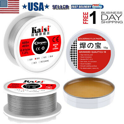 60-40 Tin Lead Rosin Core Solder Fine Soldering Wire 0.6mm 10g Solder Flux Tin