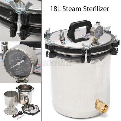 18l Professional Medical Steam Autoclave Sterilizer Dental Lab Equipment