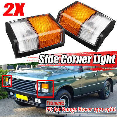 FOR RANGE ROVER CLASSIC FRONT LEFT &RIGHT COMPLETE INDICATOR LIGHT LAMP 71-86 UK