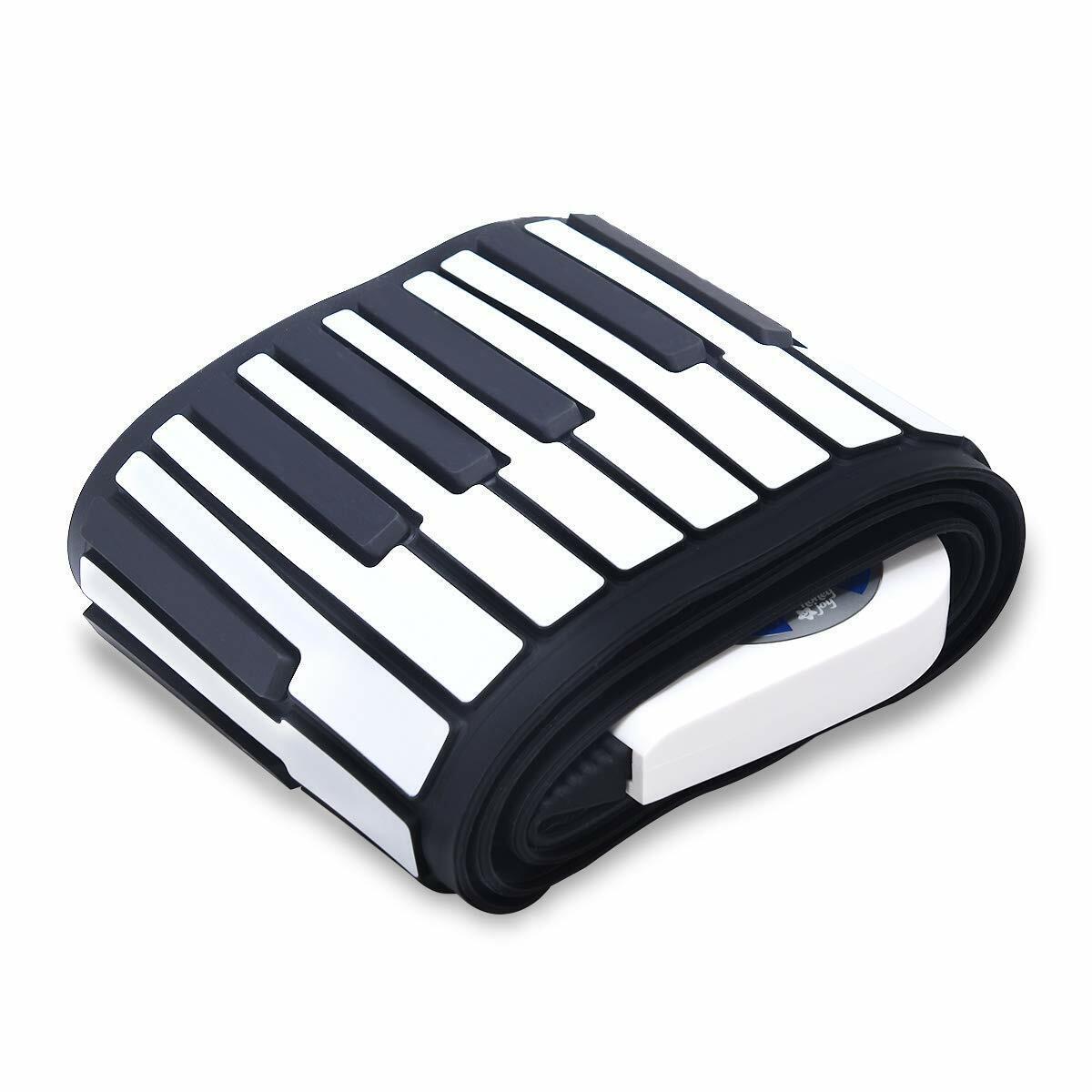 Honey Joy 61 Key Electronic Hand Roll Up Silicone Piano Keyb
