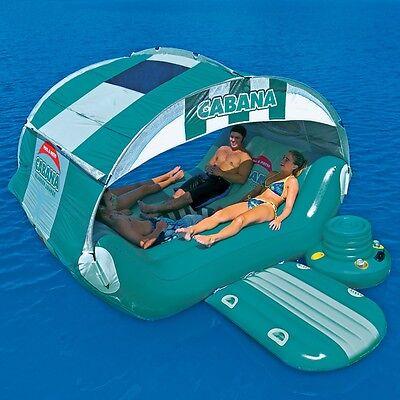 SportsStuff Cabana Islander Lounge Pool Lake Water Float Raft & Cooler 54-1920A