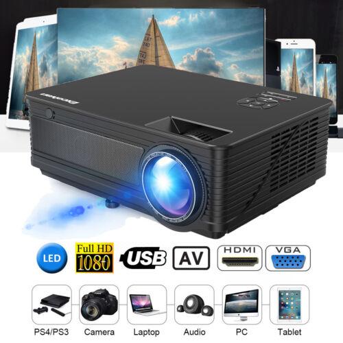 Excelvan M5 1080P 3D HD LED Heimkino Beamer Projektor(6000 Lumens)HDMI VGA TV