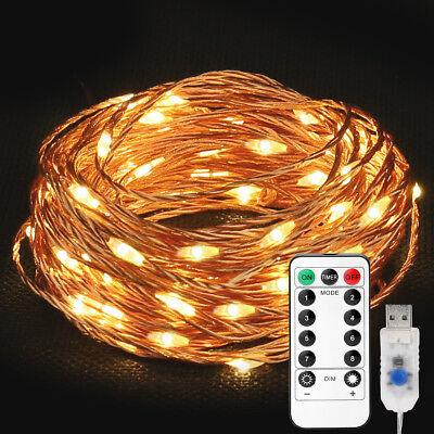 erdraht Lichterkette, 10M LED Hochzeit Aussen Lichterkette (Außen-lichterketten)
